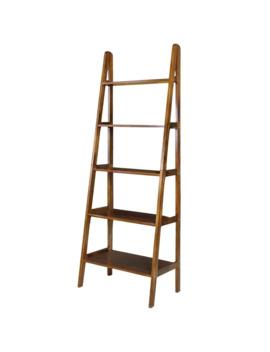 Porch & Den Peterson 5 Shelf Ladder Bookcase   Brown by Porch & Den