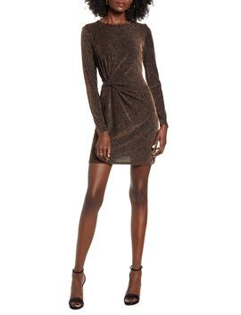 Waist Detail Long Sleeve Minidress by Leith