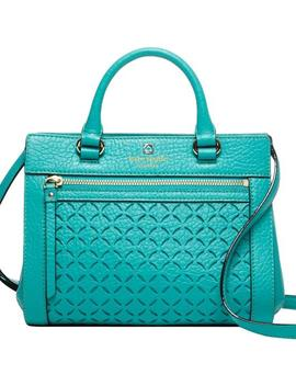 Perri Lane Small Romy Satchel Fremont Turquoise Leather Shoulder Bag by Kate Spade