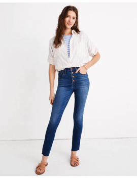 "10"" High Rise Skinny Crop Jeans: Button Front Tencel™ Denim Edition by Madewell"