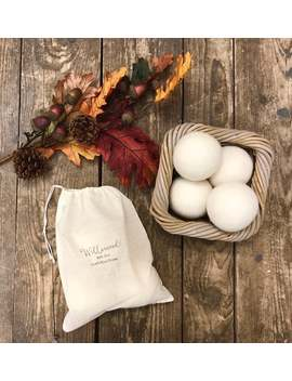 Natural 100% Pure Wool Large Chunky Dryer Balls Vegan Tumble Dryer Laundry Energy Saving Eco Friendly Reusable + Cotton Storage Bag by Etsy