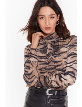 Ready To Roar Tiger High Neck Top by Nasty Gal