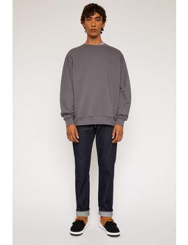 Sweatshirt In Oversized Passform Steingrau by Acne Studios