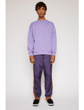 Sweatshirt In Oversized Passform Lavendel by Acne Studios