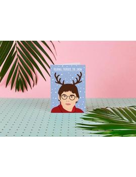 Dashing Theroux The Snow   Louis Theroux Christmas Card   Louis Theroux Greeting Card   Xmas Card   Gotta Get Theroux This   Celebrity Cards by Etsy