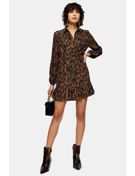 Camouflage Floral Tiered Mini Dress by Topshop