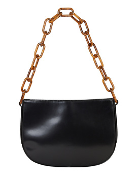 Pelle Chain Leather Shoulder Bag by By Far