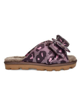 Women's Leisure Sheepskin Lushette Leopard Print Puffer Slippers by Ugg