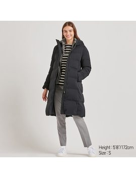 Women Seamless Down Long Coat (21) by Uniqlo