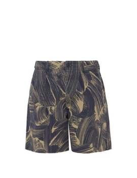 Sponge Print Denim Shorts by Raey