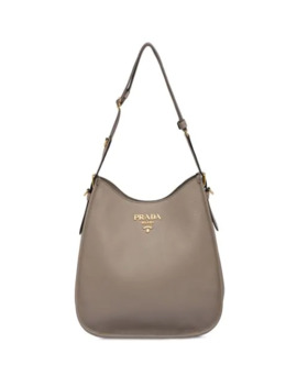 Front Logo Hobo Bag by Prada