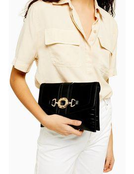Clo Black Ring Clutch Bag by Topshop