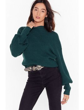 We're Warming You Ribbed Knit Sweater by Nasty Gal