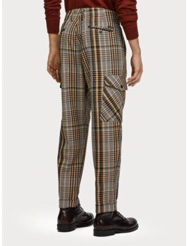 Checked Cargo Pants <Br> Loose Tapered Fit by Scotch&Soda