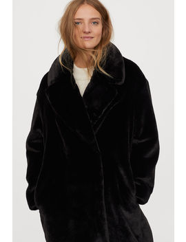 Coat In Synthetic Hair by H&M