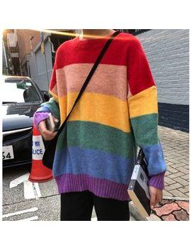 Smiler   Rainbow Stripe Sweater by Smiler
