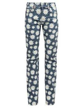 Daisy Print High Rise Jeans by Holiday Boileau