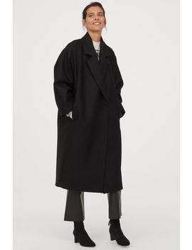 Vlněný Kabát Ke Kolenům by H&M