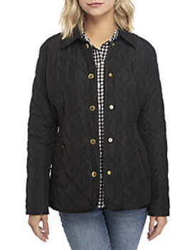 Long Sleeve Quilted Jacket by Crown & Ivy™