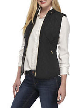 Sleeveless Quilted Vest by Crown & Ivy™