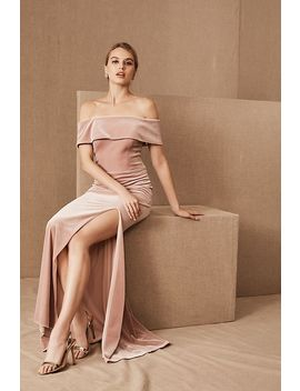 Bhldn Fawn Velvet Dress by Bhldn