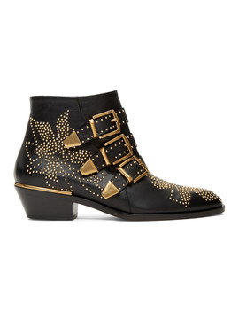 Black & Gold Susanna Boots by ChloÉ