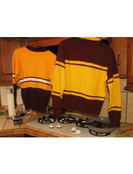 Two Vintage Cheerleader's Cheer Sweaters 1950's Kandel Acrylic Halloween by Kandel
