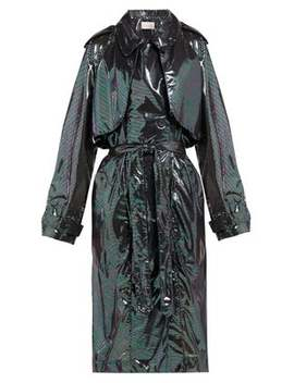 Double Breasted Iridescent Chiffon Trench Coat by Christopher Kane