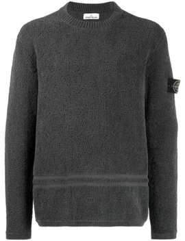 Logo Patch Textured Jumper by Stone Island