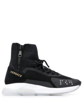 Chain Reaction High Top Sneakers by Versace