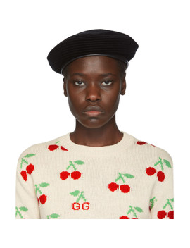 Black Emile Beret by Gucci