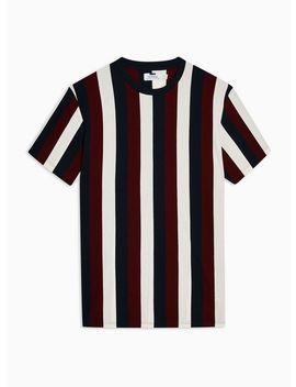 Plum Vertical Stripe T Shirt by Topman