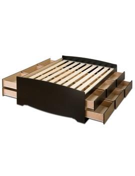 12 Drawer Tall Platform Storage Bed   Queen   Prepac by Prepac