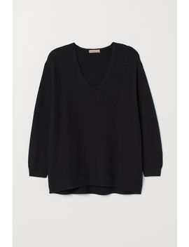 H&M+ Textured Knit Sweater by H&M
