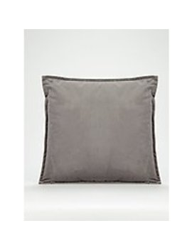 Charcoal Velvet Cushion by Asda