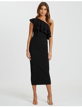 Caroline Frill Midi Dress by Chancery