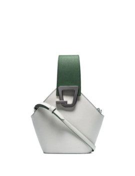 White Jonny Mini Leather Bucket Bag by Danse Lente