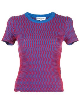 Squiggle Short Sleeve Sweater by Opening Ceremony