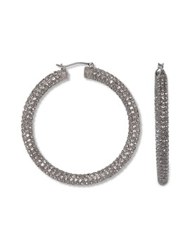 Pavé Tubular Hoop Earrings by Vince Camuto