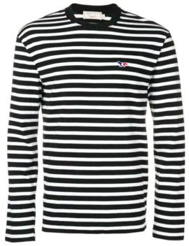 Striped Longsleeved T Shirt by Maison Kitsuné
