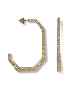 Large Elongated J Hoop Earrings by Vince Camuto