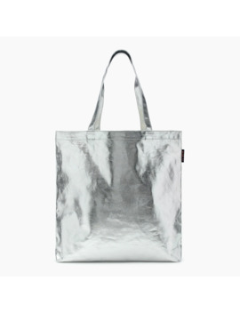 Canvas Tote In Metallic Silver by J.Crew