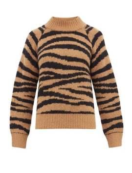 Jemima Tiger Jacquard Alpaca Blend Sweater by A.P.C.