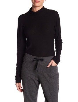 Long Sleeve Twisted Mock Neck Shirt by James Perse