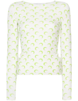 Moon Print Jersey Top by Marine Serre