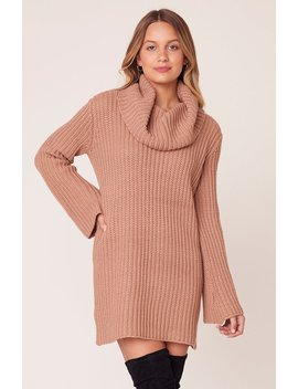 Couldn't Be Sweater Cowl Neck Sweater Dress by Bb Dakota
