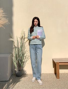 [Chuu] Semi Wide Fit Denim Pants by Chuu