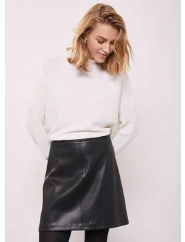 Black Faux Leather Mini Skirt by Mint Velvet