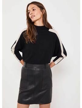 Black Leather Mini Skirt by Mint Velvet