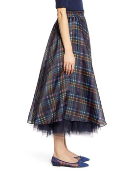 X Atlantic Pacific Full Organza Midi Skirt by Halogen®